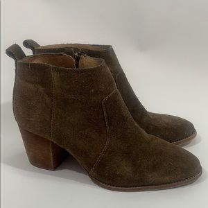 Madewell Brenner suede taupe ankle boots size 8.5